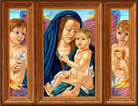 Virgin and Child Triptych